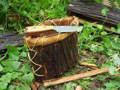 Cedar Bark berry basket stiched with cedar root.