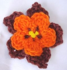Fall Crochet flower by IamSusie, via Flickr