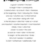 This is a poster of commonly used transition words for writing. School Stuff, Back To School, Transition Words, Word Poster, Writing Classes, Writing Words, Journal Entries, Word Work, Anchor Charts