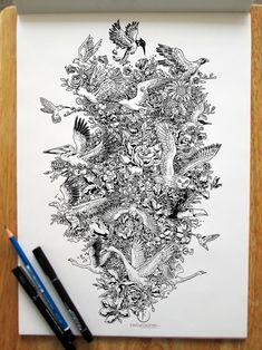 pen-doodles-kerby-rosanes-7 http://www.boredpanda.com/pen-drawing-time-guardian-steampunk-owl-kerby-rosanes/