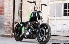 """Yikes! Check the bars on this XS650 from TC Bros., nicknamed """"Holey Roller."""""""