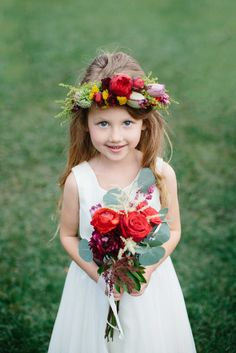 Pint sized #bouquet for the flower girl | Photography: Lori Yohe, The Purple Tree - thepurpletree.com  Read More: http://www.stylemepretty.com/california-weddings/2014/05/03/kentucky-derby-wedding-inspiration/