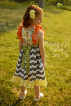Buy 2 Get 1 Free...Ruthie's Picnic Dress Girl's by FooFooThreads