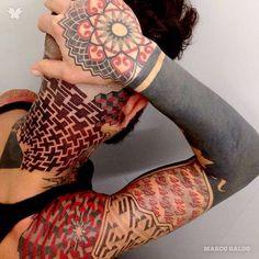 Dotwork tattoo by Marco Galdo www.worldtattoogallery.com