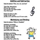 Use the songs on this poster to help your students memorize the rules for adding, subtracting, multiplying, and dividing integers....