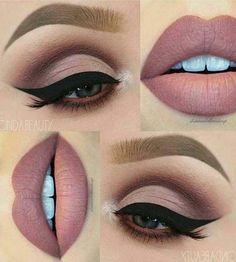 eye makeup Perfektes Make-Up fr Braune Augen! Perfektes Make-Up fr Braune Augen! Matte Makeup, Matte Eyeshadow, Eyeshadow Makeup, Lip Makeup, Eyeshadow Ideas, Makeup Art, Makeup Monolid, Contour Makeup, Beauty Makeup