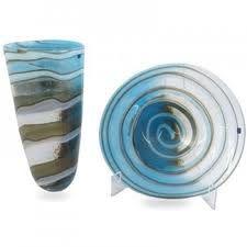 Mooie natuurtinten gecombineerd met blauw glas