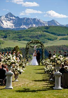 Brides: A Mountain Wedding at Gray Head Properties %26 Ranch in Telluride, Colorado