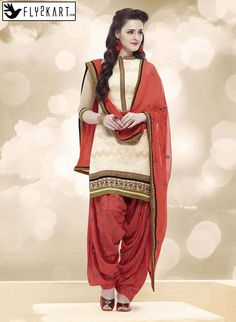 Cream Colour Pure Cotton patiyala http://www.fly2kart.com/salwar-suits/cream-colour-pure-cotton-embroidered-party-wear-patyala.html?utm_content=buffer5e7ed&utm_medium=social&utm_source=pinterest.com&utm_campaign=buffer BIG OFFER SALE UP TO 50% OFF!!! +91-8000800110 CALL OR WHATSAPP