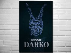 Donnie Darko poster fan art minimalist poster geekery. $19.00, via Etsy.