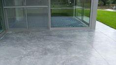 betonvloer als terras