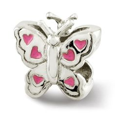 Sterling Reflections Kids Enameled Butterfly Bead