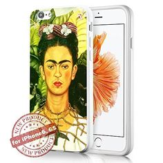 Frida Kahlo Paintings Picture Art Fashion iPhone 6 6s Case Cover White Rubber Silicone Protector by SURIYAN, http://www.amazon.com/dp/B01DM3GWSK/ref=cm_sw_r_pi_dp_x_kwoFzbTRWPVHY
