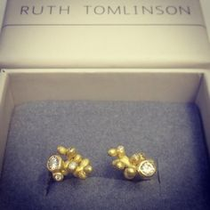 "@ruthtomlinsonjewellery's photo: ""#Diamonds #stud #earrings from our #lustercollection #gift #christmasshopping"""
