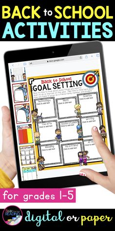 Back to school student goal setting is one of many back to school activities included in this fun pack of back to school ideas :) Perfect back to school craftivity to get to know your students! Also makes for a great back to school bulletin board display for your classroom! Paper and digital Google Slides back to school activities for distance learning or remote learning. Back to School 1st grade, 2nd grade, 3rd grade, 4th grade, 5th grade. Icebreakers for the first day of school or first…