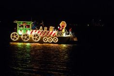 pontoon boat decoration as train - Google Search
