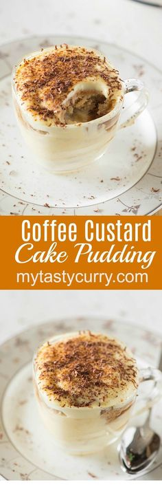 Coffee custard and cake pudding is a divine match made in heaven consisting of all indulgent flavors together -a little sweet and a little bitter. You really can't get enough of this delicious layered dessert which needs not much of real cooking and you can put it together in few minutes