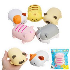 [US$8.39 ~ 8.89] Angie Squishy Jolly Cat 12cm Soft Scented Slow Rising Original Package Collection Gift Decor Toy #angie #squishy #jolly #12cm #soft #scented #slow #rising #original #package #collection #gift #decor