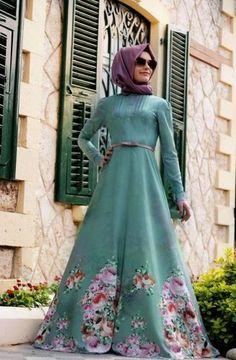Gamze Polat - Flowers Elbise Çağla