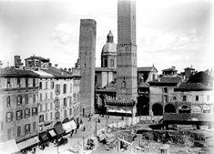 Via Rizzoli dopo la demolizione delle Torri Artenisi e Riccadonna  Archivio Ferri/Roversi