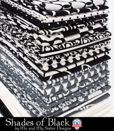 Shades of Black by Me and My Sister Designs for Moda Fabrics
