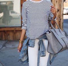 Summer white stripes