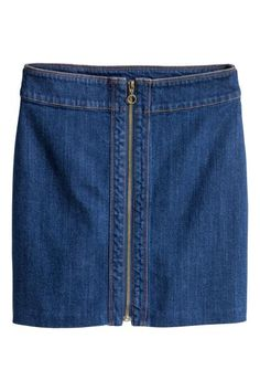 denim skirt with zip from H&M