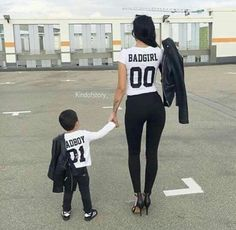 World of Latex, Bondage and High Heels: Archive Mother Son Matching Outfits, Mom And Baby Outfits, Family Outfits, Kids Outfits, Couple Outfits, Mommy And Son, Mom Daughter, Baby Boy Fashion, Kids Fashion