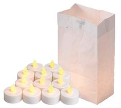 Luminaria Kit - Bags & Battery Tealights 100 Hours (Pack of 24)