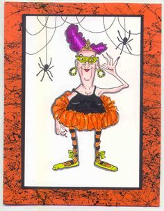 Tu Tu Granny Eunice and spider  sold separately made by Art Impressions Rubber Stamps, All items can be purchased in my ebay Store Pat's Rubber Stamps & Scrapbooks or call me 423-357-4334 and place an order, or come by 1327 Glenmar Ave. Mt Carmel, TN 37645, We take PayPal. You get free shipping with the phone orders of $30.00 or more