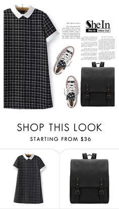 """Shein 9/10"" by mell-2405 ❤ liked on Polyvore featuring Converse"