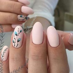 Pastel pink nail color with nail design ##nailart
