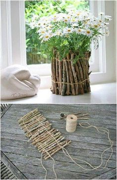 25 Cheap and easy home decor projects from sticks and twigs! These home decor crafts are so easy to make! You can everything with sticks and twigs you can find in your backyard! Try making one of these great home decor projects! Easy Home Decor, Diy Home Crafts, Easy Diy Crafts, Diy Crafts For Kids, Craft Kids, Kids Diy, Easy Diy Mother's Day Gifts, Diy Mothers Day Gifts, Mother's Day Diy