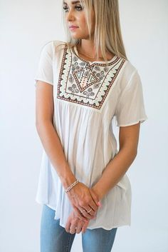Alexis Embroidered Top