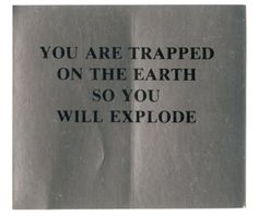 Jenny Holzer, stickers from the Survival series