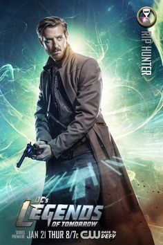 Arthur Darvill as Rip Hunter in his 'DC's Legends of Tomorrow' character poster!