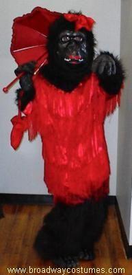 Animal Costume to Rent: Female Gorilla