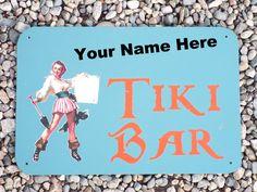 Custom Made Metal Pirate Tiki Bar Sign by DrSkippersJungleHut on Etsy Tiki Bar Signs, Tiki Tiki, Custom Made, Pirates, Etsy Store, Unique Jewelry, Metal, Handmade Gifts, Vintage