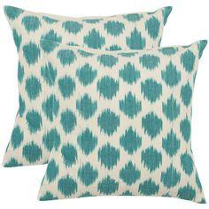 Safavieh Oceans 22-inch Aqua Blue Decorative Pillows (Set of 2) - Overstock Shopping - Great Deals on Safavieh Throw Pillows