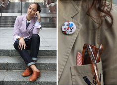 via Two Inch Cuffs and Mariah Kunkel, photographed by Bill Cunningham