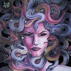 """Mythomorphia by Kerby Rosanes - """"Gorgon"""" #mythomorphia #kerbyrosanes"""