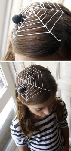 How To make this cute spider web headdress!