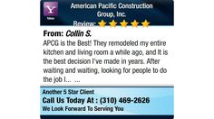 APCG is the Best! They remodeled my entire kitchen and living room a while ago, and It is...