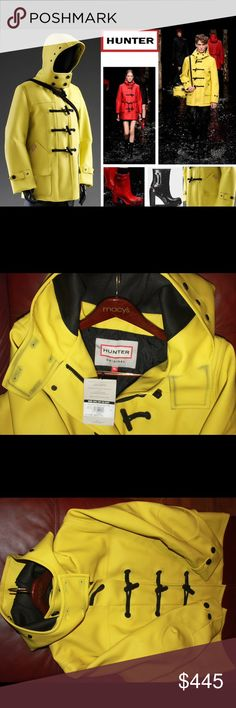 Hunter Limited Original Yellow Duffle Rubber Coat Ultra Rare, and Luxurious Hunter Boots Original Rubber Duffle Coat unisex style Women XL / Men L. New with Tag. Very thick rubber, heavy, and well build. Also have the Red and Black Rubber Duffle coats listed separately. Most luxurious rubber coat feels like a million bucks. Hunter Boots Jackets & Coats Military & Field