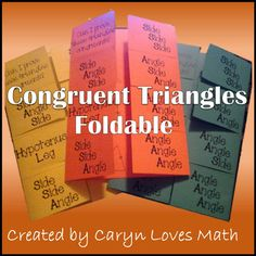 Congruent Triangles Foldable ~Postulate/Theorem ~SSS~SAS~ASA~HL