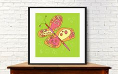 modern butterfly butterfly wall art kids room by MyDaisyDownloads