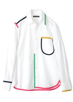 Tsumori Chisato  Nice way to add a little color to a white blouse