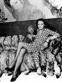 Diane von Furstenberg, 1973: The designer turned the wrap dress into a working-woman staple.