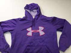 Womens under Armour Hoodie Size Medium M UA Long Sleeve Pull Over Sweat Shirt #UnderArmour #Hoodie