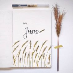 Bullet journal monthly cover page, June cover pag. - Bullet journal monthly cover page, June cover pag. Bullet Journal Lettering, Bullet Journal Quotes, Bullet Journal 2020, Bullet Journal Aesthetic, Bullet Journal Notebook, Bullet Journal Ideas Pages, Bullet Journal Spread, Bullet Journal Layout, Bullet Journal Inspiration